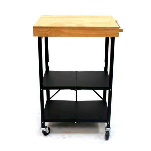 Get Origami Folding Kitchen Island Cart Black Kitchen Medium