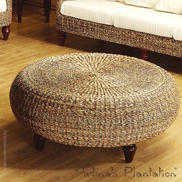 Get Rattan Round Ottoman Foter Medium