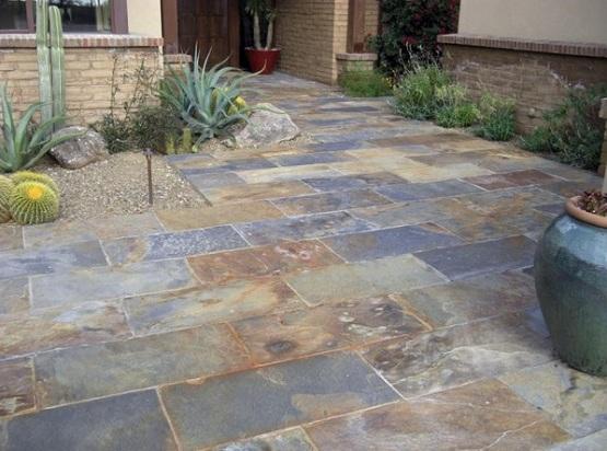get slate patio tiles floor for traditional outdoor patio