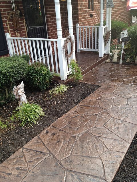 Get Stamped Concrete Walkway Ideas Aesthetic Addition To A Medium