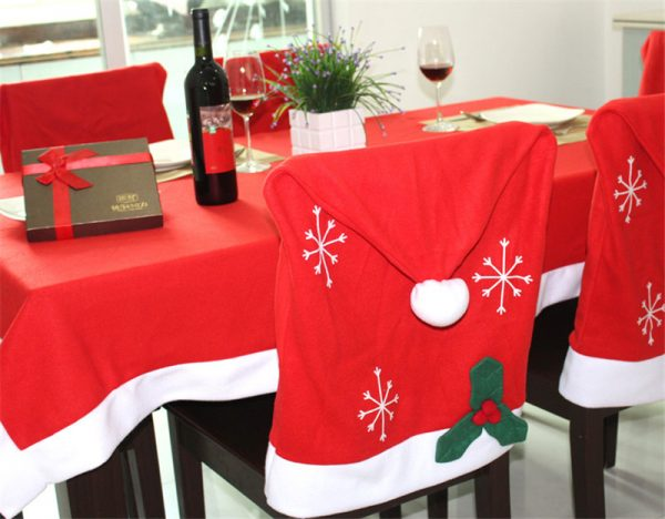 Innovative 2015 Newest 6pcs Lot Christmas Chair Covers Santa Clause Medium