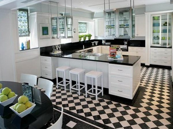 Innovative Black And White Kitchen Flooringyour Dream Home Medium