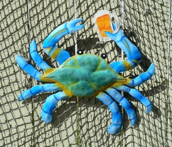 Innovative Blue Crab Decor 4 Blue Crab Plastic Replica Maryland Blue Medium