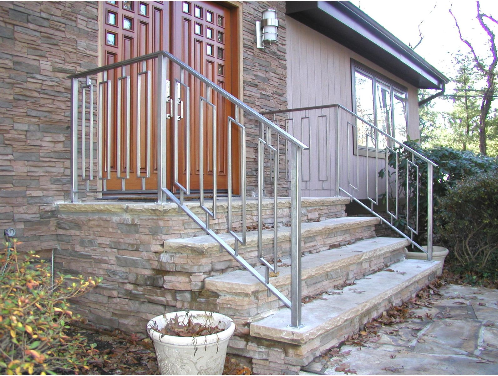 innovative custom made greenan exterior entry railing by eric david