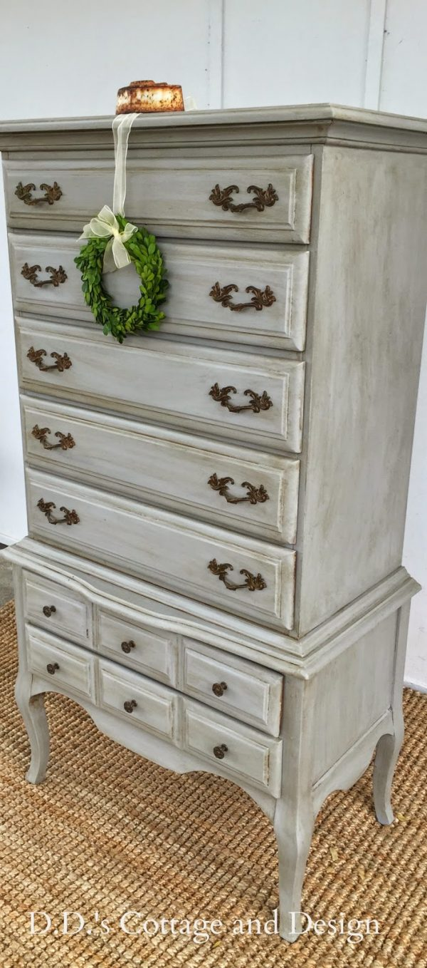 Innovative Dds Cottage And Design Grey French Provincial Chest On Medium