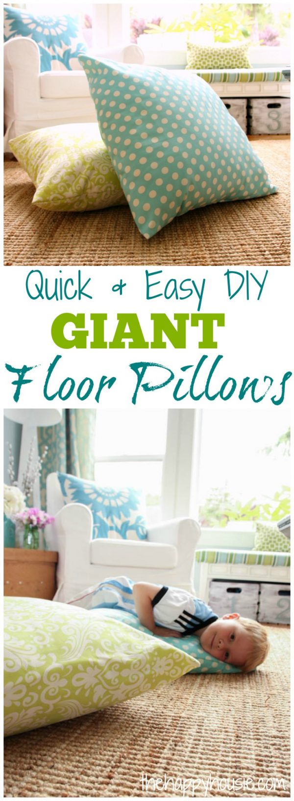 Innovative Diy Giant Floor Pillows The Happy Housie Medium
