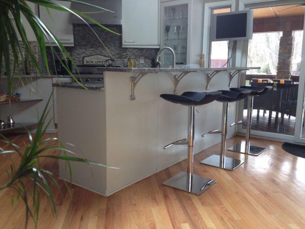 Innovative Excellent Modern Kitchen Island Design Featuring Floating Medium