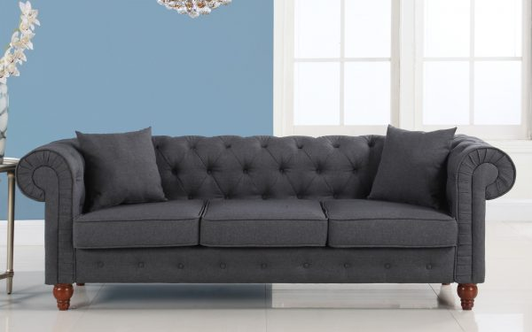 Innovative Grey Chesterfield Sofa Bed Surferoaxacacom Medium