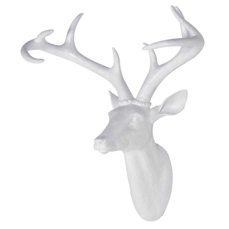 innovative large white resin deer head sculpturemulberry moon