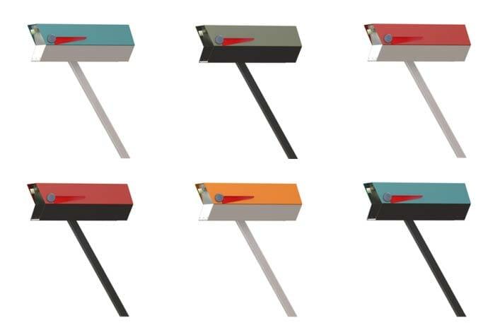 innovative midcentury modern mailbox reproduction modbox usa now