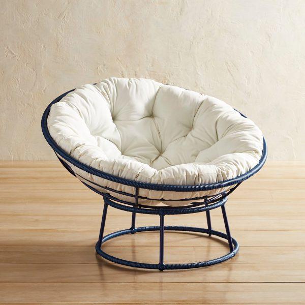 Innovative Outdoor Navy Papasan Chair Framepier 1 Imports Medium