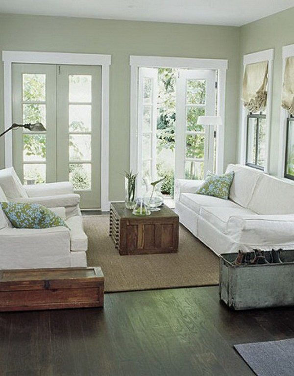 Innovative Sage Green And White Living Room Medium
