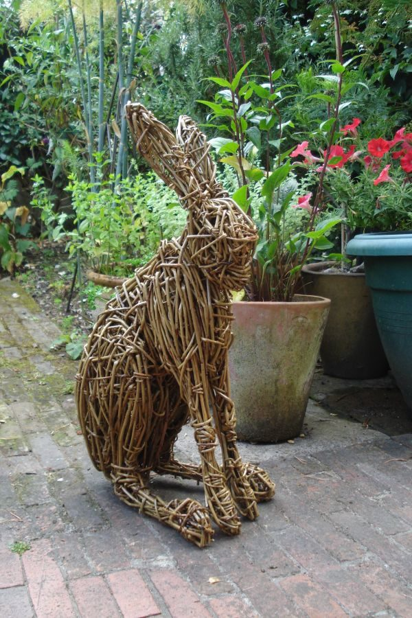 Innovative Sculpture Willow Hare No2 Sold Woven Willow Statue Medium