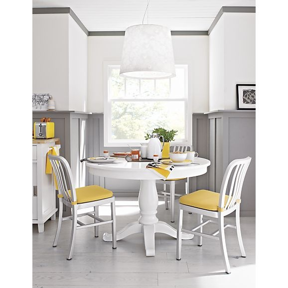 Innovative Small Round White Kitchen Table Yellow Upholstered Chairs Medium