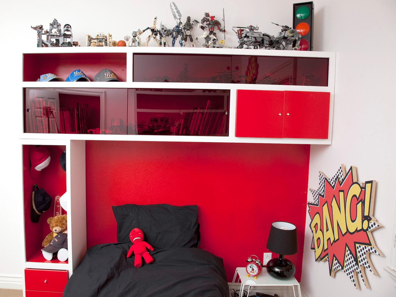 innovative storage headboard for a kids roomhgtv