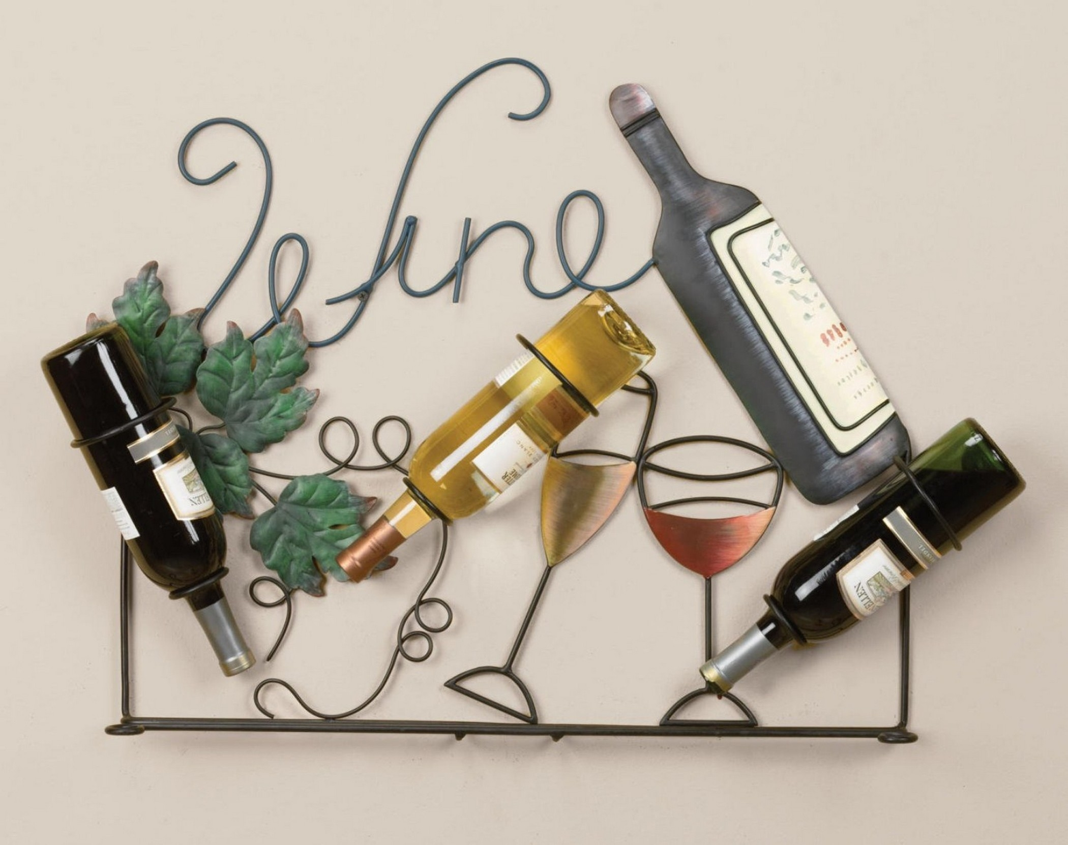 innovative wrought iron wine rack wall mounted with unique