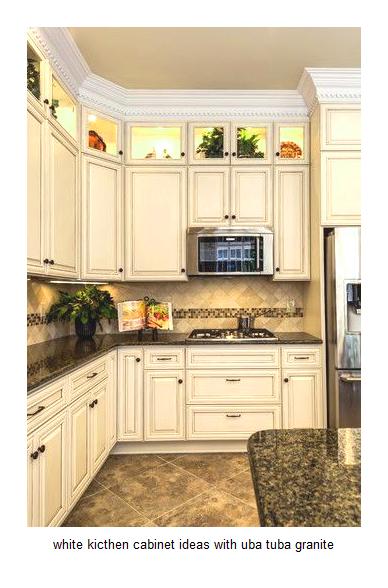 Inspiration 17 White Kitchen Cabinet Ideas With Uba Tuba Granite Medium
