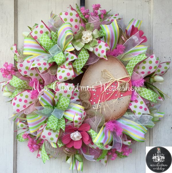 Inspiration 18 Cheerful Handmade Easter Wreath Designs To Get Your Medium