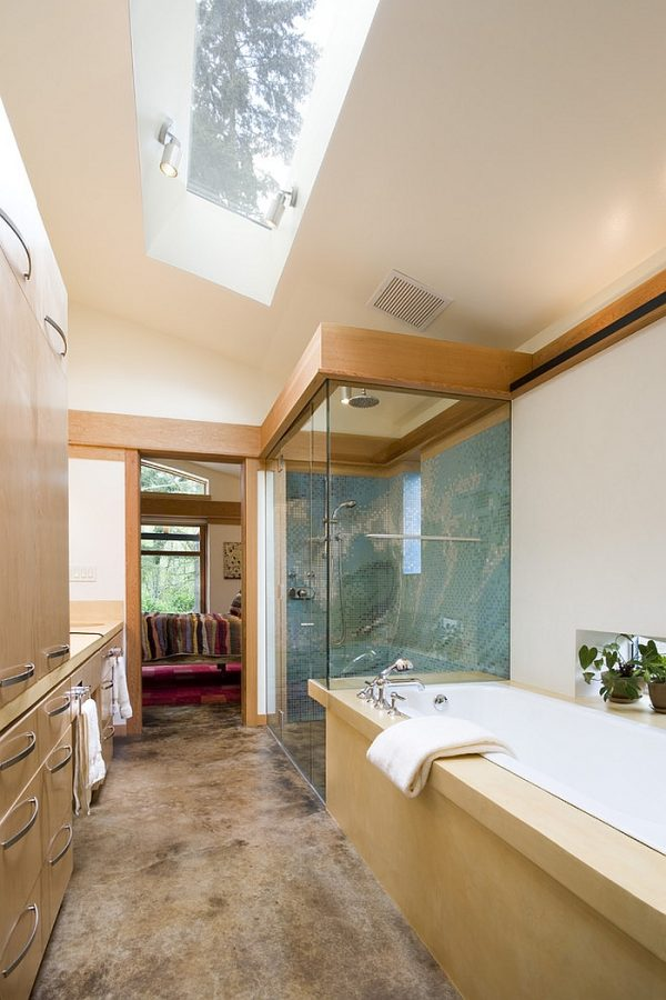 Inspiration 23 Gorgeous Bathrooms That Unleash The Radiance Of Skylights Medium