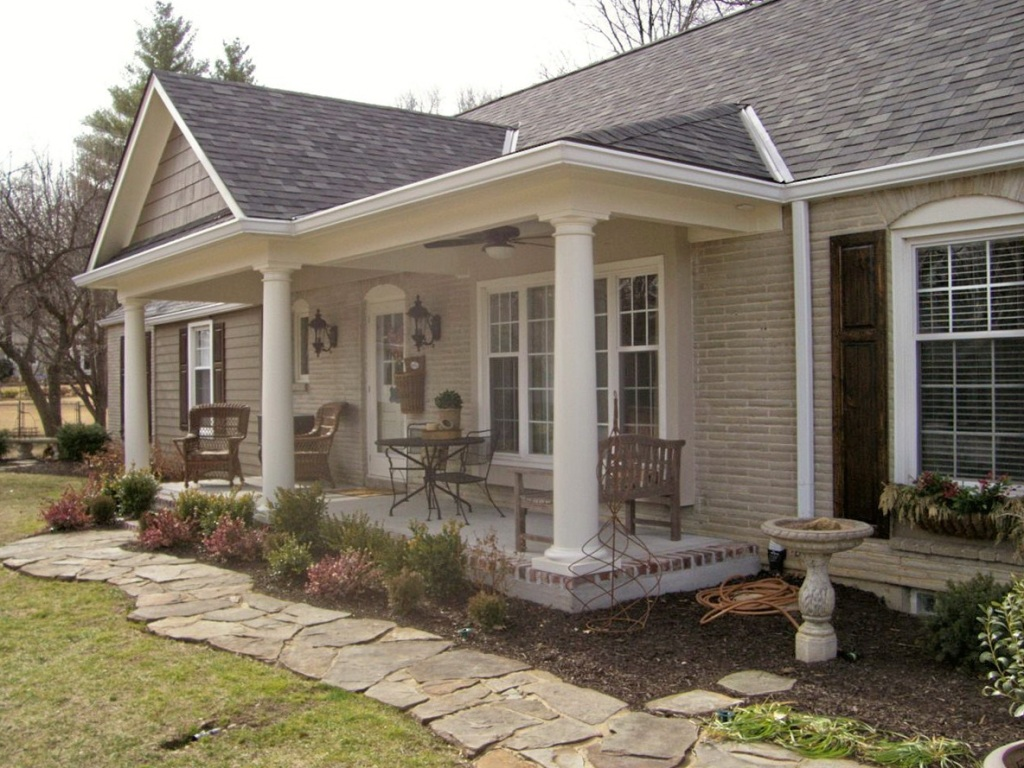 inspiration adding a porch to a ranch style house with porches house