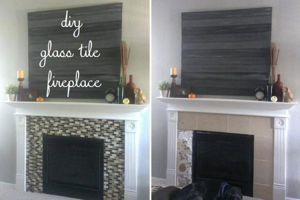Inspiration Beautiful Interior The Most Glass Tile Fireplace Surround Medium