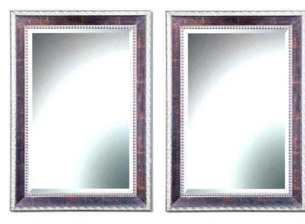 Inspiration Beveled Rectangular Mirror Modern Stainless Steel Medium