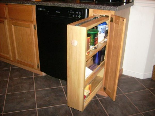 Inspiration Bloombetytraditional Cabinet Pull Out Spice Rack Medium