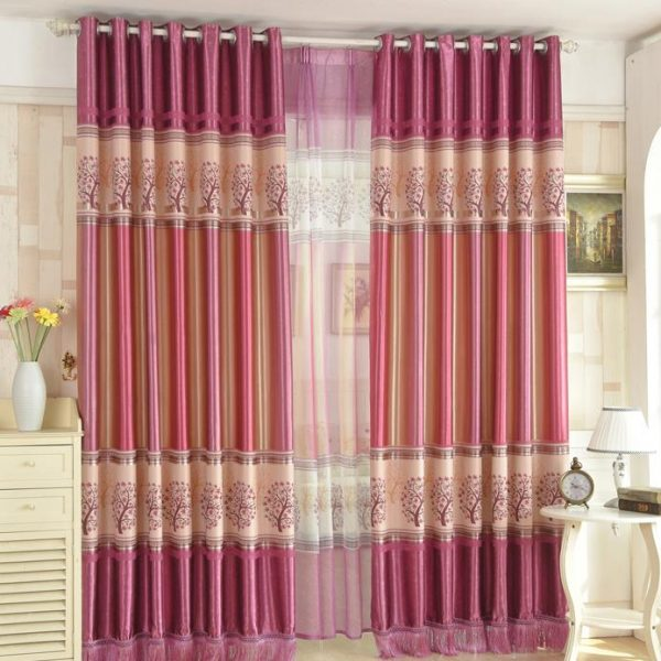 Inspiration Cheap Tree Pink Purple Beautiful Curtains For Girls Bedroom Medium