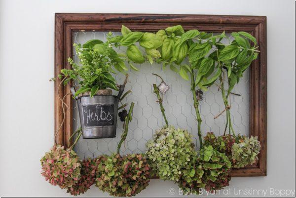 Inspiration Drying Hydrangeas And Herbs On A Diy Drying Rack Medium