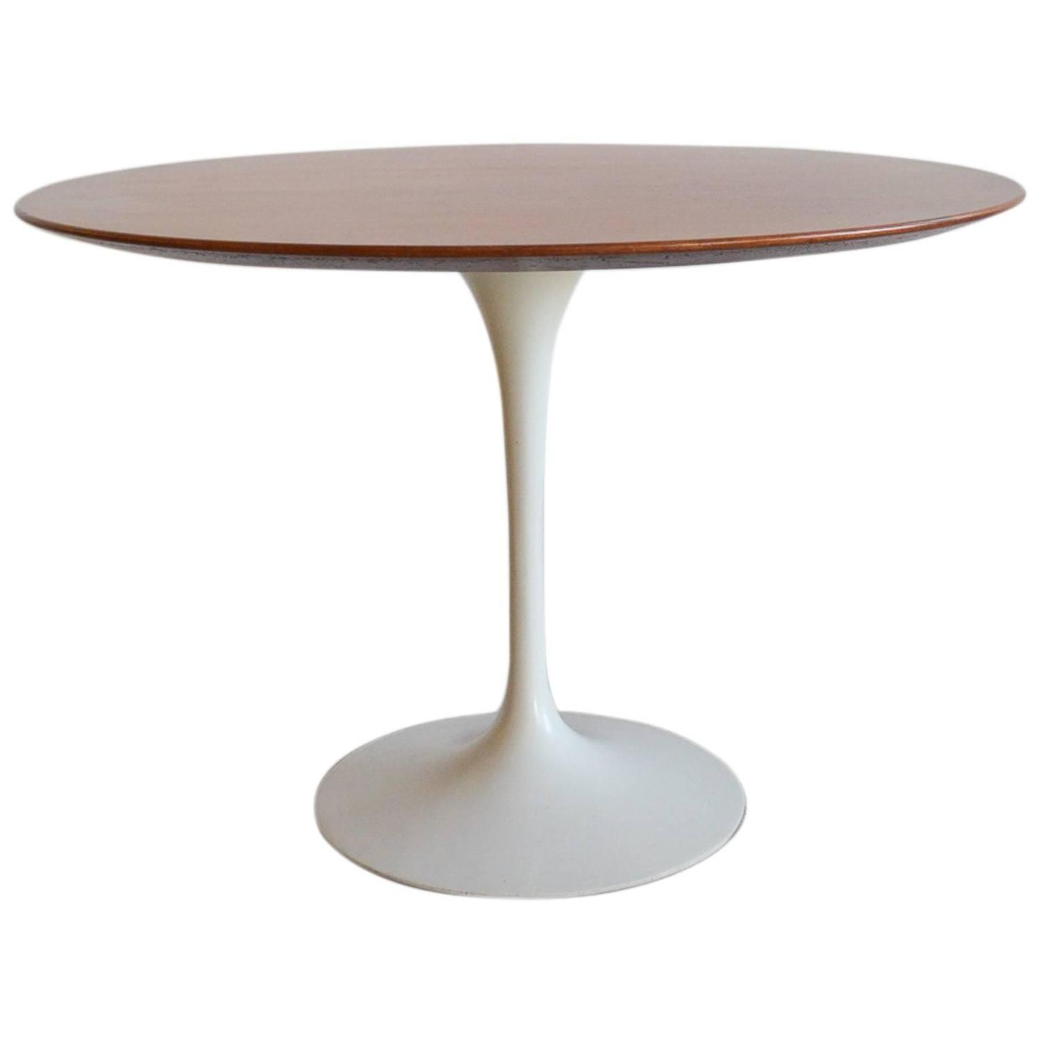 inspiration eero saarinen for knoll walnut dining table at 1stdibs