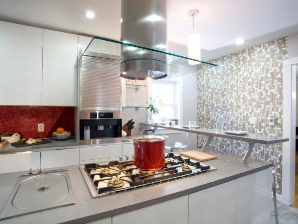 Inspiration Fine Modular Floating Breakfast Bar Design With Stainless Medium