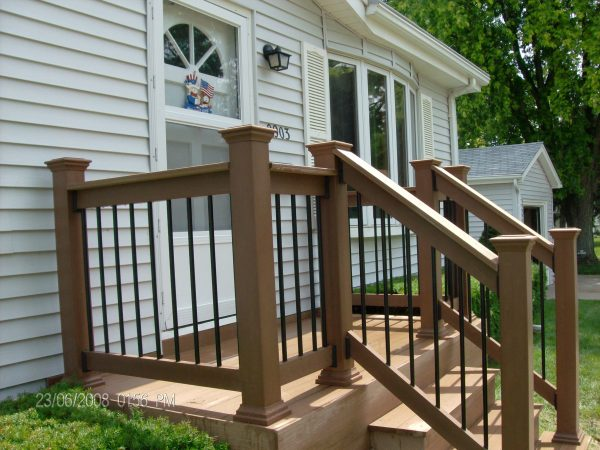 Inspiration Front Porch Railings Ideas Medium