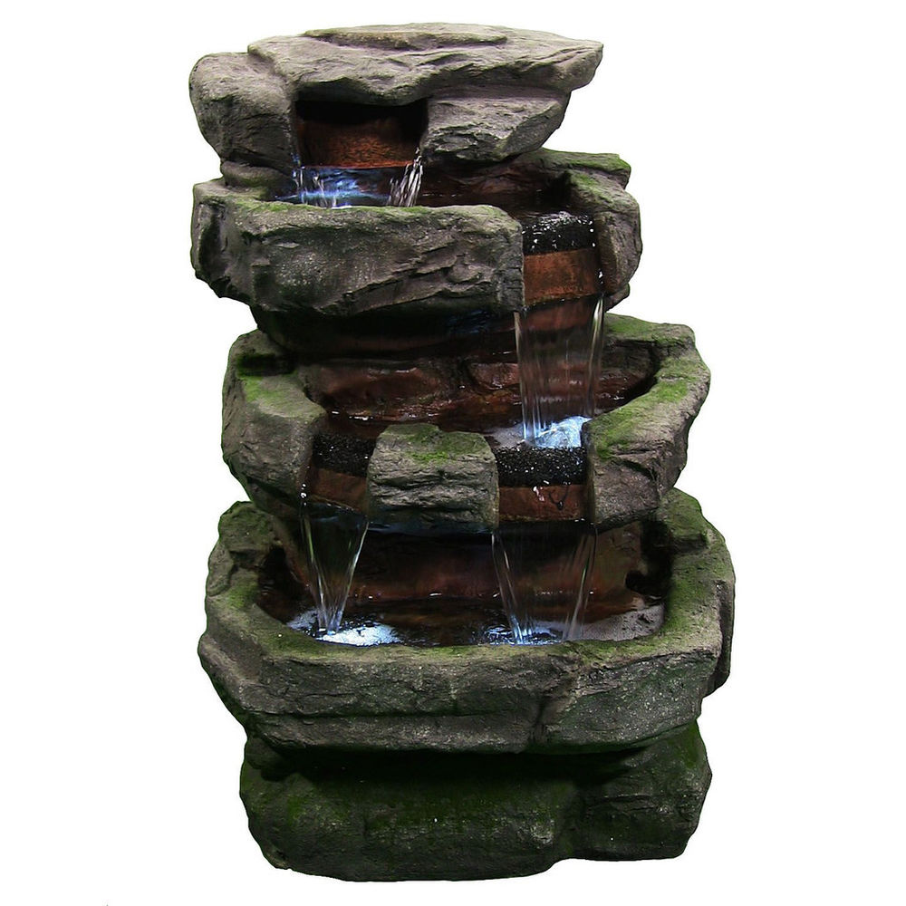 inspiration large rock quarry outdoor electric garden water fountain