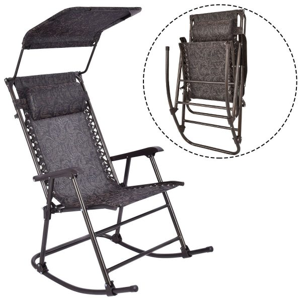 Inspiration Outdoor Home Daddy Folding Rocking Chair Rocker Patio Medium