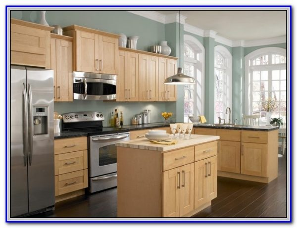 Inspiration Paint Colors For Honey Maple Cabinets Paintinghome Medium