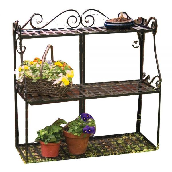 Inspiration Panacea Forged Metal 3tier Plant Stand89193 The Home Depot Medium