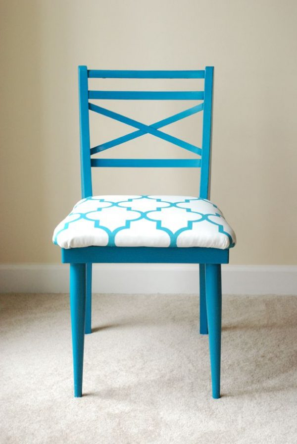 Inspiration Peacock Blue Chairfun Family Faith Medium