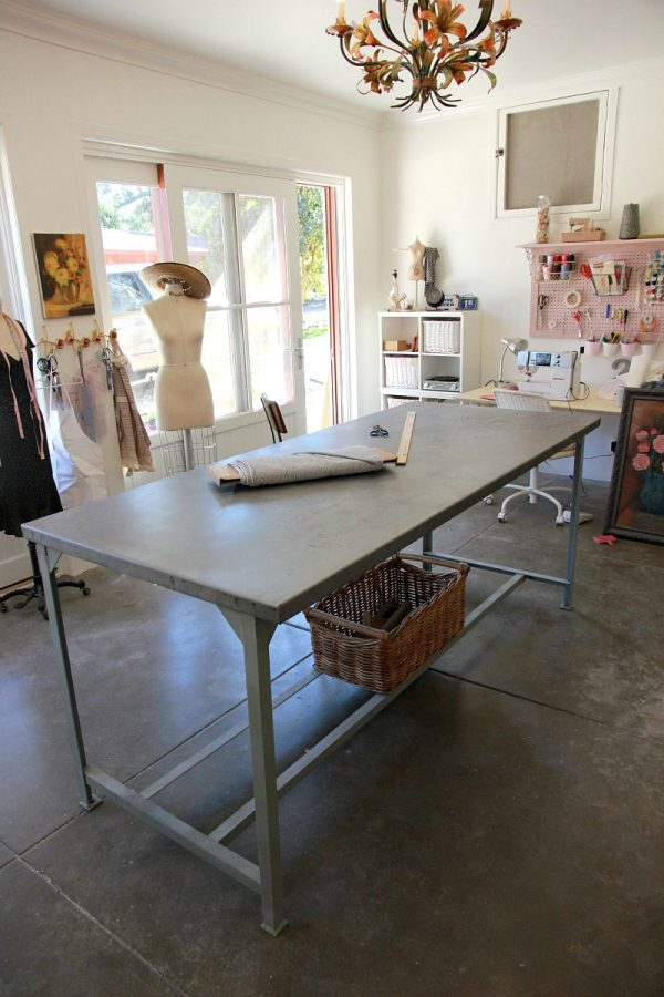 Inspiration Project Sewing Room Restoring A Metal Work Table To Use Medium