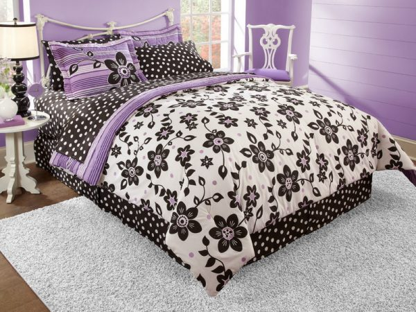 Inspiration Purple And Black Bed For Girl Teenagers Native Home Medium