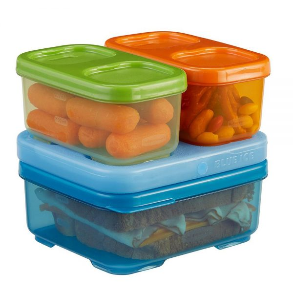Inspiration Rubbermaid Lunch Blox Kids 4piece Blue Storage Container Medium