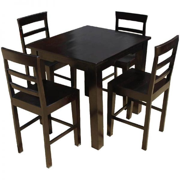 Inspiration Solid Wood Counter Height Dining Table   Chairs Set Medium