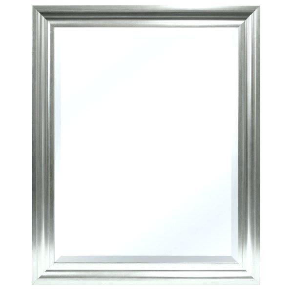 Inspiration Square Bevel Mirror Square Eled Mirror Silver El Edge Wall Medium
