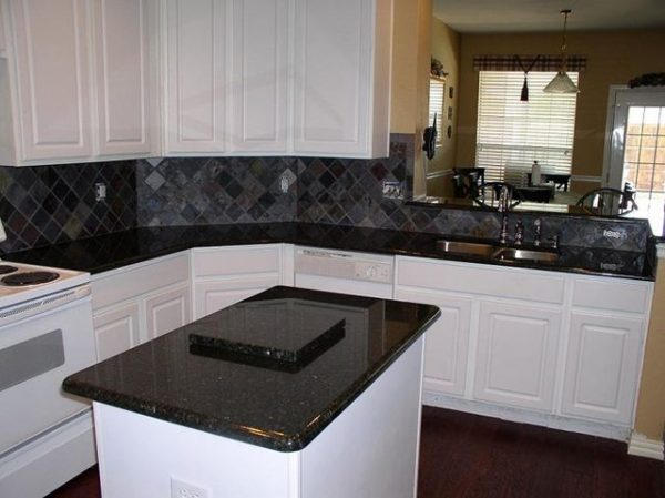 inspiration uba tuba granite with white cabinetshome medium