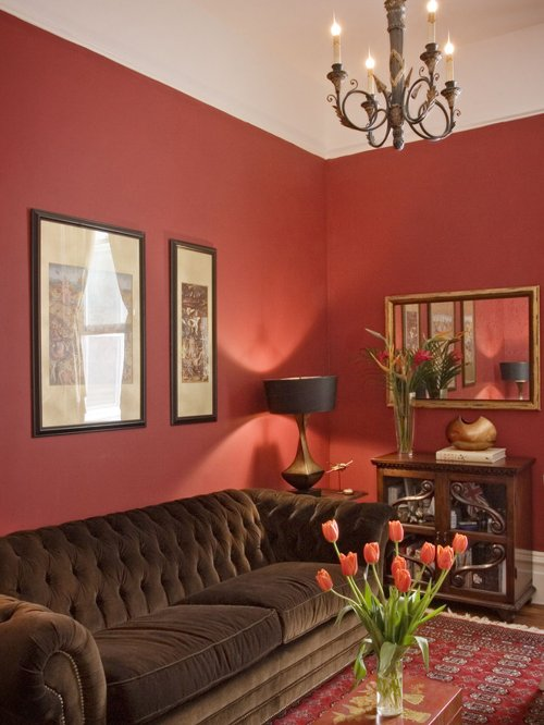 Inspiration Wall Color With Red Couchhouzz