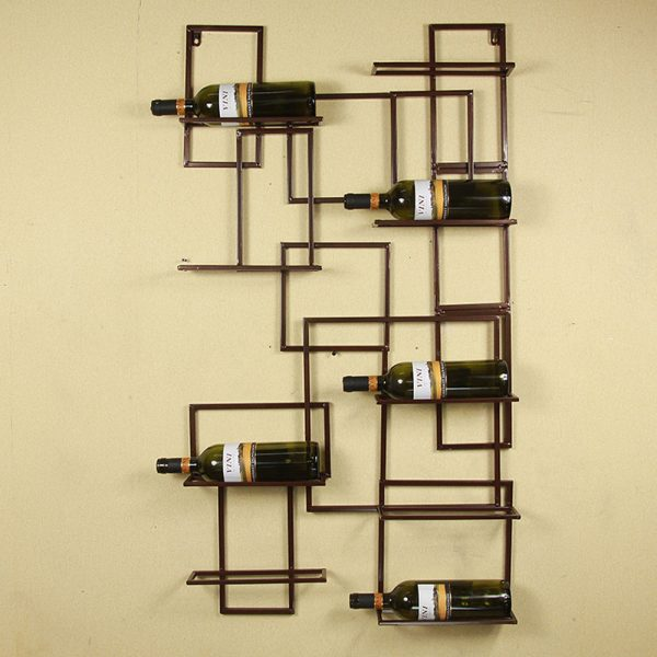 Inspiration Wall Mount Metal Wine Rack Bottle Holder Wine Storage Medium
