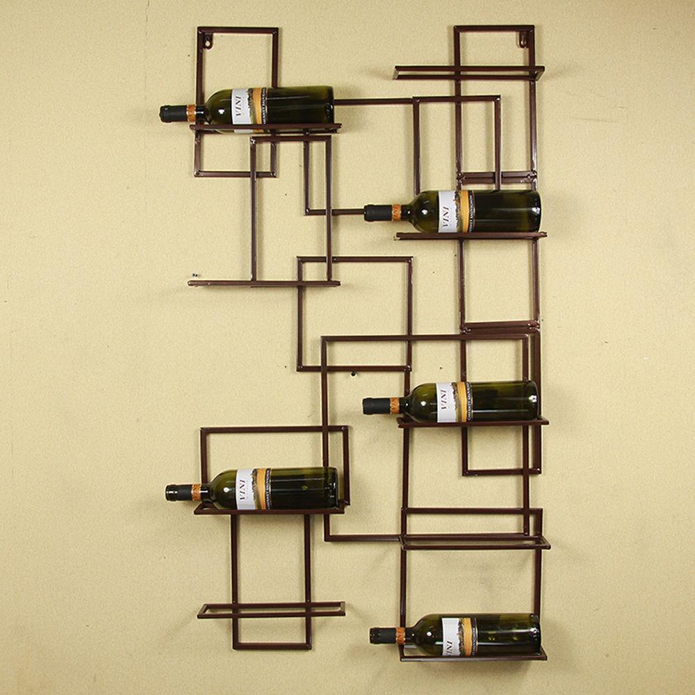 inspiration wall mount metal wine rack bottle holder wine storage