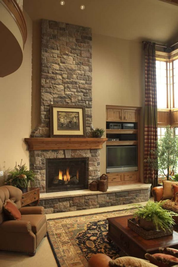 Inspirational 25 Stone Fireplace Ideas For A Cozy Natureinspired Home Medium
