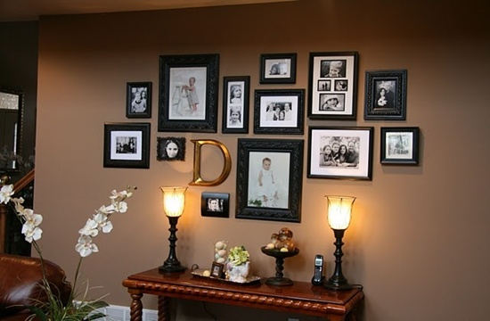 Inspirational 25 Unique Ideas For Designing A Photo Wall Medium