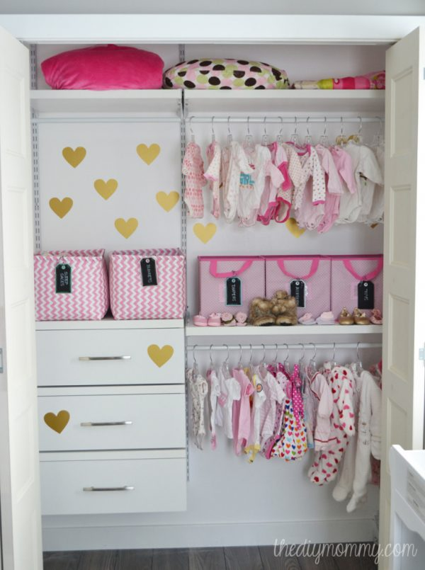 Inspirational An Organized Baby Closet With Closetmaid Shelftrack Elite Medium