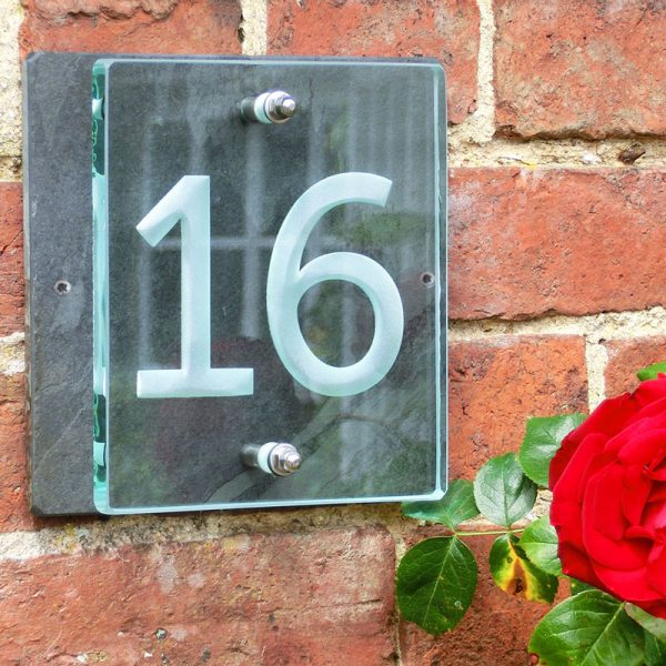 Inspirational Buy A Small Glass House Number Sign Tim Carter Medium